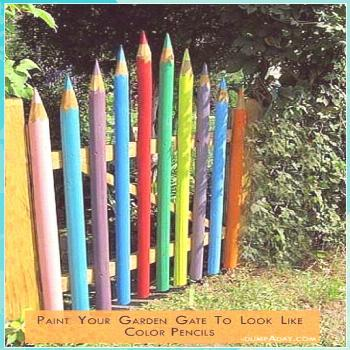 30+ easy and affordable DIY art projects to beautify your garden ... roses gardens gates