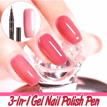 3-In-1 Gel Nail Polish Pen  Hey, Girl! It's time for a nail beauty makeover! Got no time to go to t