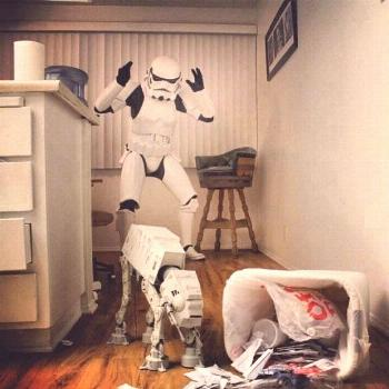Bad AT-AT! - A Little Humor. I love SW geeks that put time into their craft.