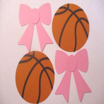 Free Throws or Pink Bows Gender Reveal Decorations Cutouts | Etsy