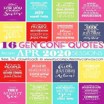 General Conference Quotes {APRIL 2020} FREEBIE GENERAL CONFERENCE QUOTES APRIL 2020, PRINTABLE QUOT