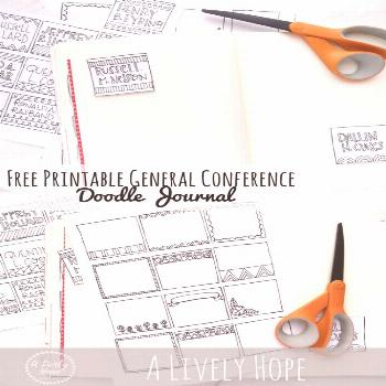 LDS Conference Doodle Journal (Free Printable!) *Updated October 2018* |  LDS Conference Doodle Jou