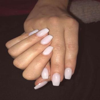 Natural white gel nailart nailart ⚪️ gel gellook white nageldesign nailart twinza Natural white