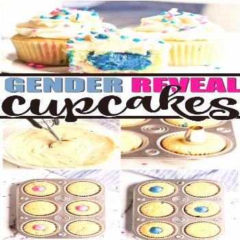Of all the ways to unveil the gender of a baby, you can't get any cuter than gender reveal cupcak