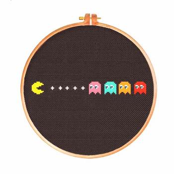 Pac-Man | Digital Download | Geek Cross Stitch Pattern | Video Game Pattern by Stitches of Creation