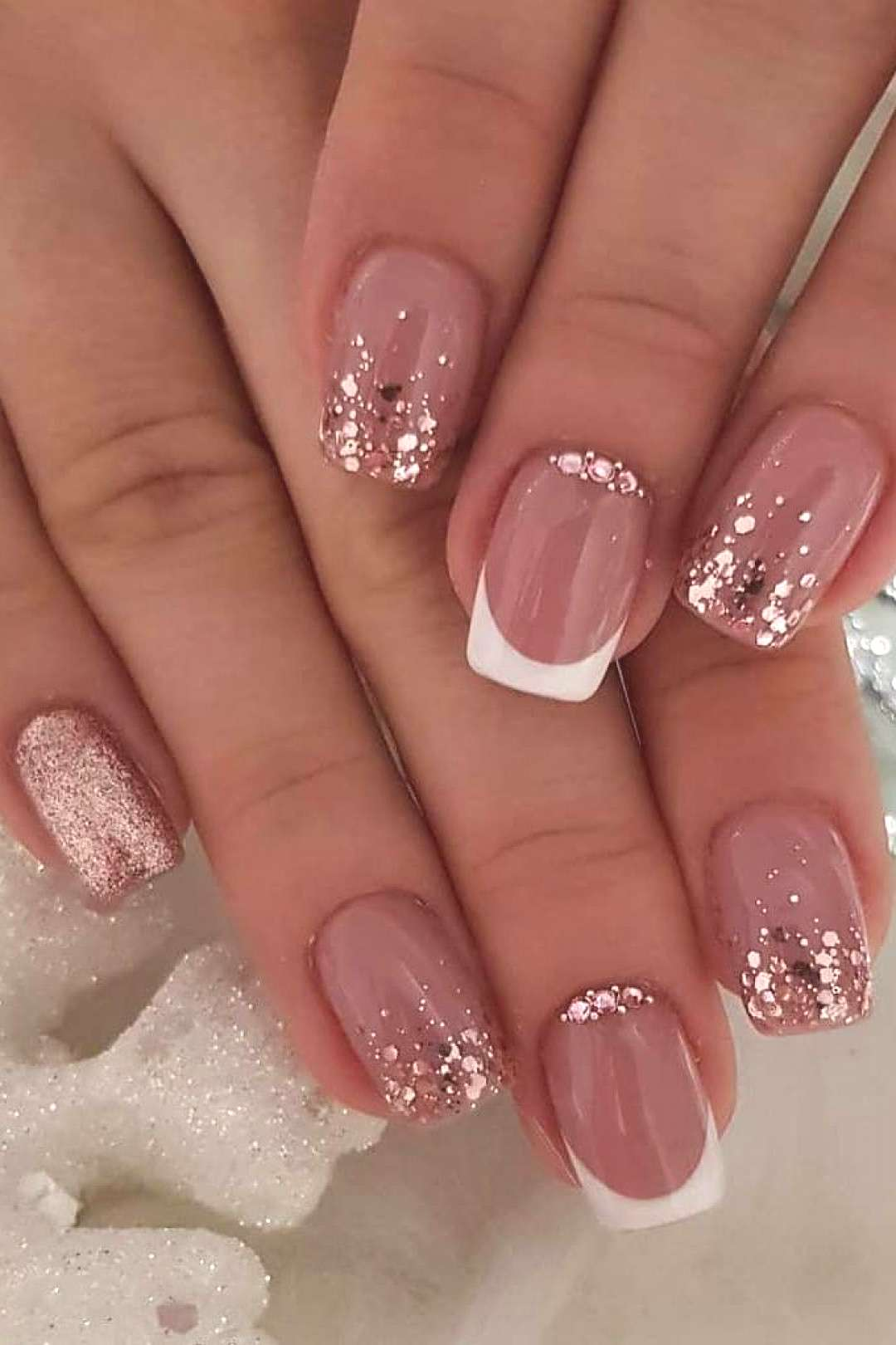 57+ Really Cute Glitter Nail Designs! You Will Love This Part 8 57+ Really Cute Glitter Nail Design