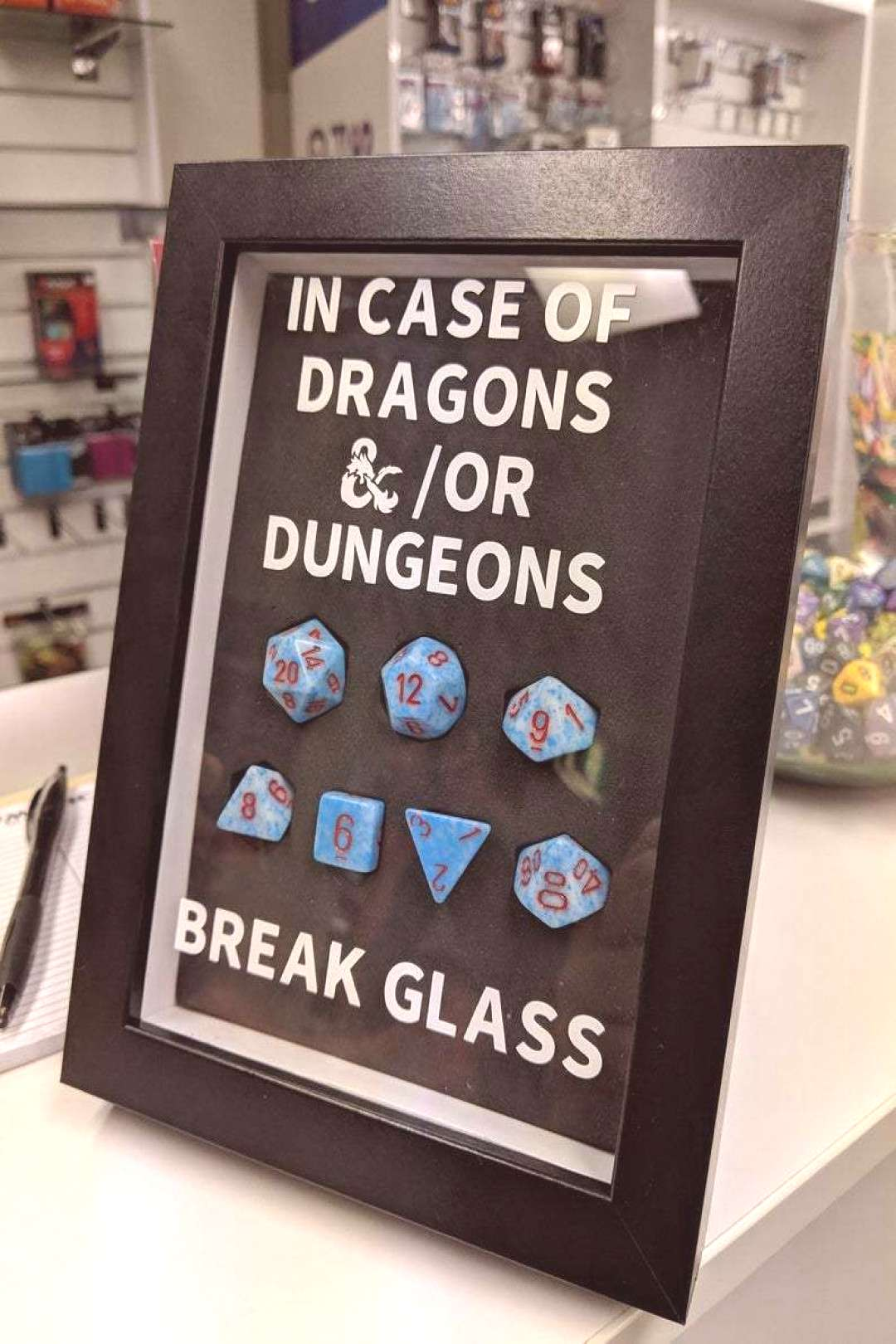 Emergency D&D Dice Frame