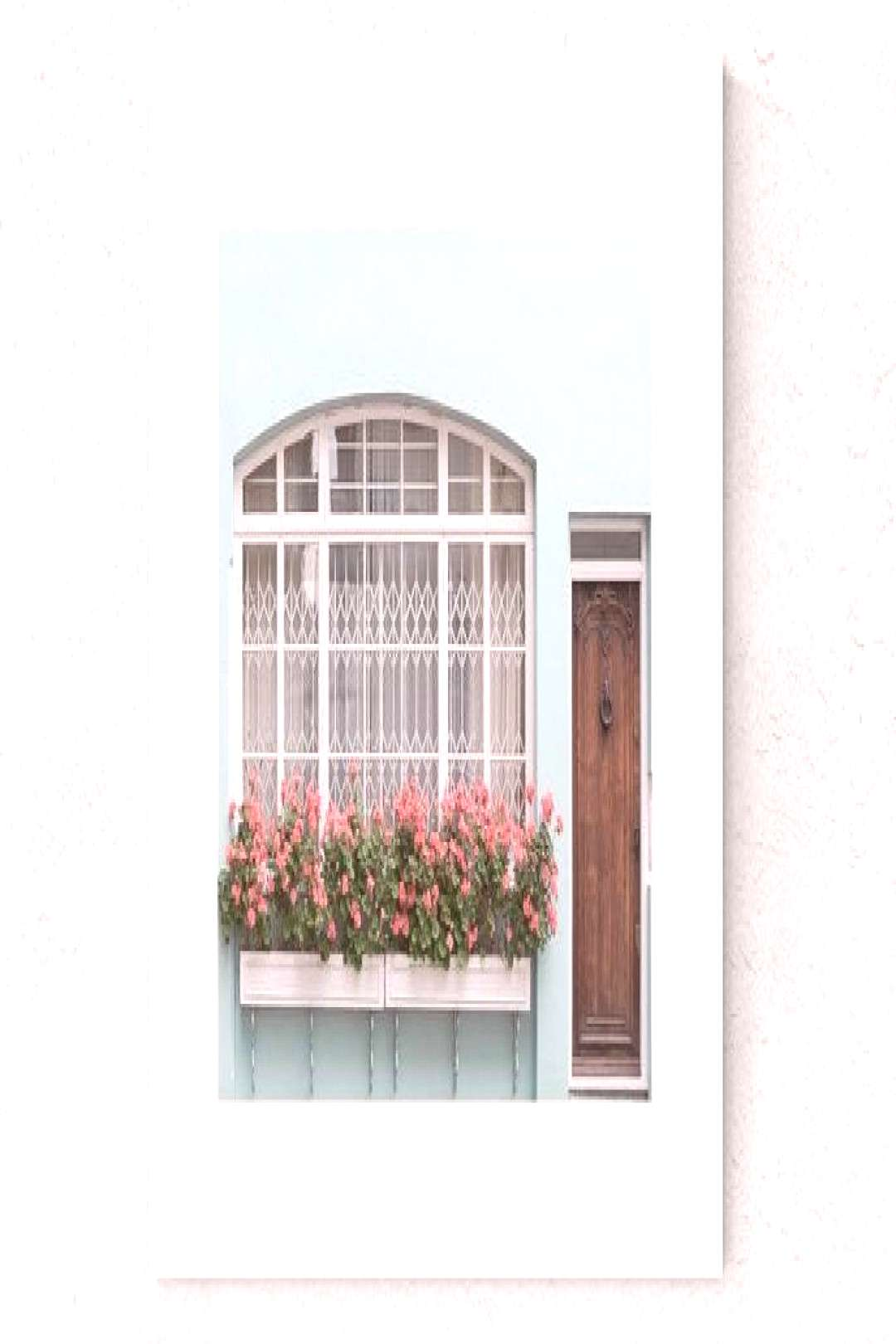London, Seafoam Green, English Mews House, Architecture, Coral Geraniums, Door, Whimsy, Europe, Tra