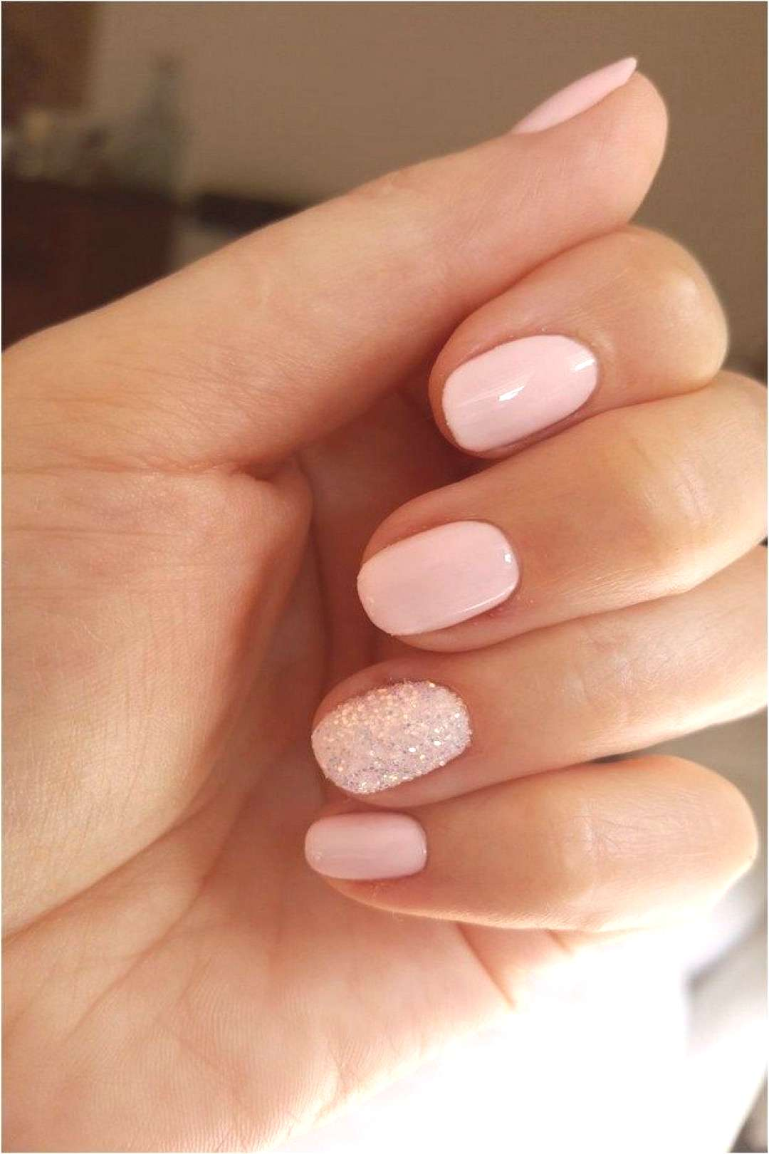Nails ❤55 glitter gel nail designs for short nails for spring 2019 22        55 Glitzer-Gel-Nagel